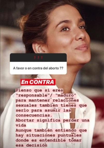 La «influencer» María Pombo se posiciona contra el aborto: furibunda campaña feminista contra ella