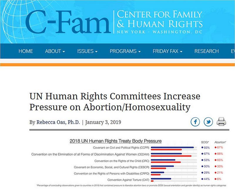 La ONU aumenta sus presiones a favor el aborto y la agenda homosexualista